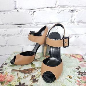 Pierre Hardy Brown Leather Buckle Heels